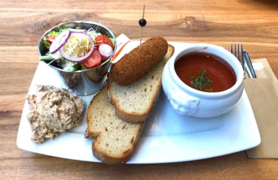 Samengestelde lunch bij onze lunchroom nabij Roermond