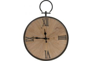 Clock metal / wood 47x62x4.5cm bo
